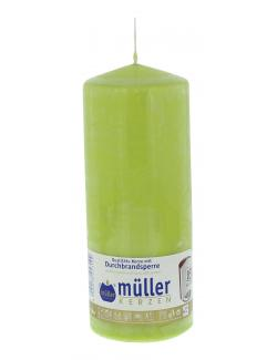 Müller-Kerzen Stumpenkerze maigrün (1 St.) - 4009078253109