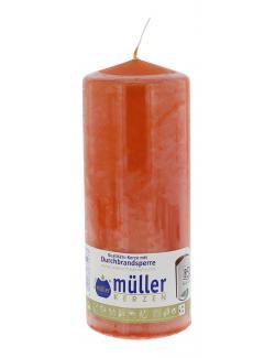 Müller-Kerzen Stumpenkerze mandarin (1 St.) - 4009078674973