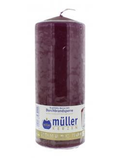Müller-Kerzen Stumpenkerze weinrot (1 St.) - 4009078039000