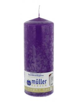 Müller-Kerzen Stumpenkerze violett (1 St.) - 4009078115025