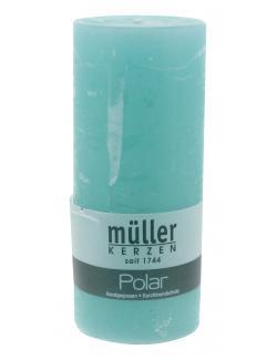 Müller-Kerzen Polar Stumpenkerze türkisgrün (1 St.) - 4009078260862