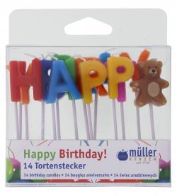 Müller-Kerzen Tortenstecker (14 St.) - 4009078323772