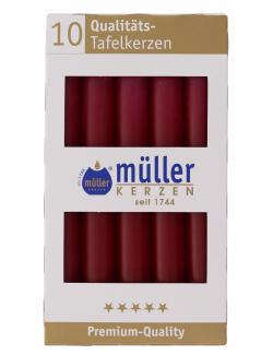 Müller-Kerzen Tafelkerze weinrot (10 St.) - 4009078317238