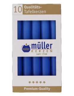 Müller-Kerzen Tafelkerze indigo (1 St.) - 4009078382656