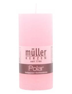 Müller-Kerzen Polar Stumpenkerze malve (1 St.) - 4009078501774