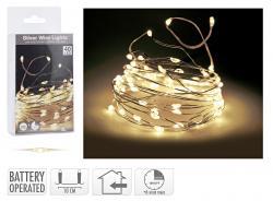 Koopmann Silberdraht Lichterkette 40 LED mit Timer