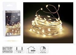 Koopmann Silberdraht Lichterkette 20 LED mit Timer