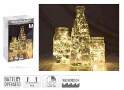 Koopmann Silberdraht 20 LED mit Timer waterproof
