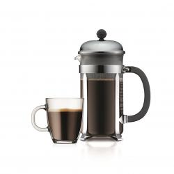 Bodum Chambord Kaffeeset Kaffeebereiter 1 Liter + 4 Becher