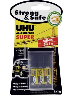 Uhu Alleskleber Super Strong & Safe Minis (3 x 1 g) - 4026700443059