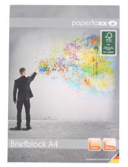 Paperfoxx Briefblock DIN A4 50 Blatt blanko