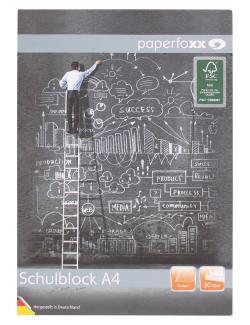 Paperfoxx Schulblock DIN A4 50 Blatt kariert (1 St.) - 4005437802674