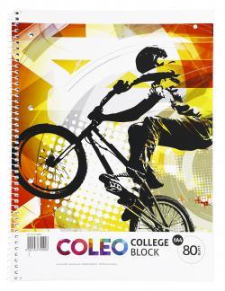 Coleo Collegeblock A4 kariert 80 Blatt