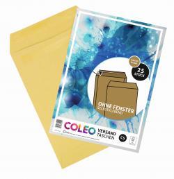 Coleo Versandtasche C5 braun ohne Fenster