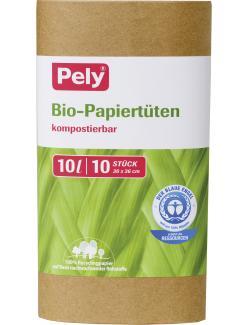 Pely kompostierbare Bio-Papiertüten 10 Liter (10 St.) - 4007519085630
