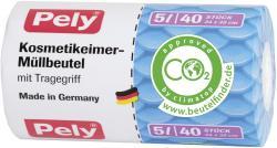 Pely Kosmetikeimer-Müllbeutel mit Griff 5 Liter
