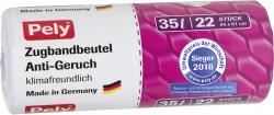 Pely Zugband-Müllbeutel Anti Geruch 35 Liter