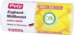 Pely Zugband-Müllbeutel extra stark 20 Liter