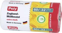 Pely Zugband-Müllbeutel extra stark 60 Liter Vorteilspack