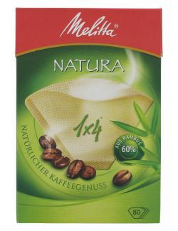 Melitta Filtertüten Natura 1x4 aus Bambus (80 St.) - 4006508191154