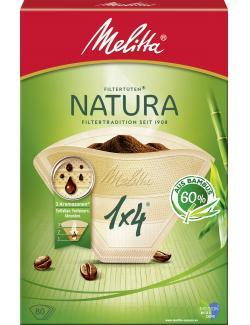 Melitta Filtertüten Natura 1x4 aus Bambus