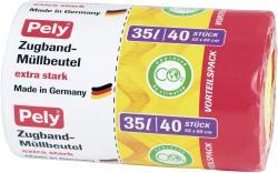 Pely Zugband-Müllbeutel extra stark 35 Liter Vorteilspack (40 St.) - 4007519085449