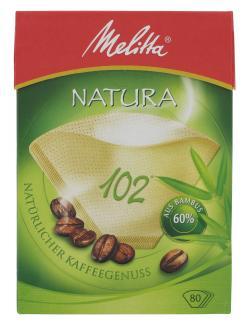Melitta Filtertüten Natura 102 aus Bambus (80 St.) - 4006508191147