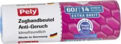 Pely Zugband-Müllbeutel Anti Geruch extra breit 60 Liter