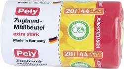 Pely Zugband-Müllbeutel extra stark 20 Liter Vorteilspack (44 St.) - 4007519085425