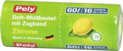 Pely Zugband-Müllbeutel mit Duft Zitrone 60 Liter (16 St.) - 4007519086262