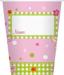 Duni Pappbecher 200ml Pink Fairy (1 St.) - 7321011628735