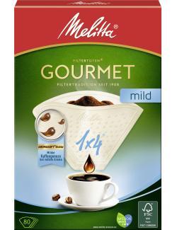 Melitta Gourmet Filtertüten Mild 1x4