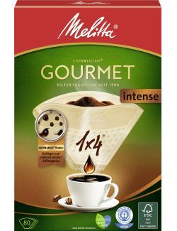 Melitta Filtertüten Gourmet Intense Filter 1x4