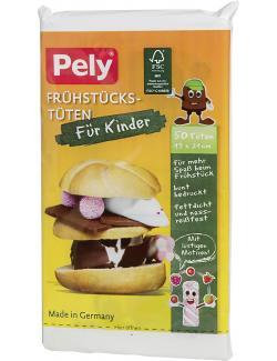 Pely Frühstücks-Tüten bunt bedruckt für Kinder
