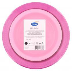 Duni Plastikteller Colorix 22 + 17cm pink/rosa (1 St.) - 7321011677283