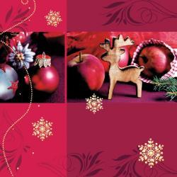 Duni Christmas Jewelry Tissue-Servietten 33x33cm (1 St.) - 7321011693542