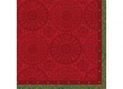 Duni Servietten Dunilin 40x40cm Festive Charme red