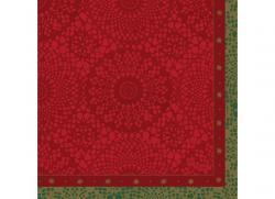 Duni Servietten Tissue 33x33cm Festive Charm red