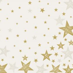 Duni Servietten Dunilin 40x40cm Shining Star cream