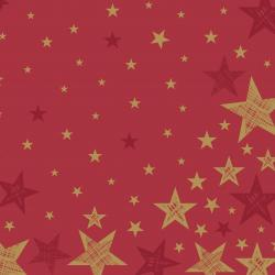 Duni Servietten Dunilin 40x40cm Shining Star red 12 St.