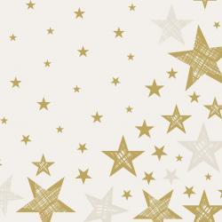 Duni Servietten Tissue 33x33cm Shining Star Cream