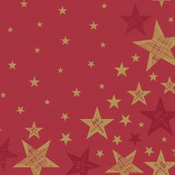 Duni Servietten Tissue 33x33cm Shining Star red 20 St.