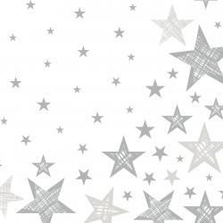 Duni Servietten Tissue 33x33cm Shining Star white 20 St.