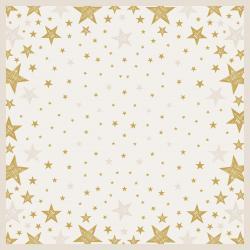 Duni Mitteldecke Dunicel 84x84cm Shining Star cream