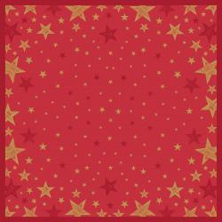 Duni Mitteldecke Dunicel 84x84cm Shining Star red