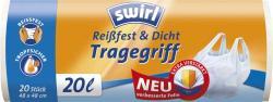 Swirl Tragegriff Reißfest & Dicht Müllbeutel 20 Liter