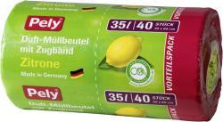 Pely Zugband-Müllbeutel mit Duft Zitrone 35 Liter