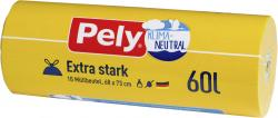 Pely Zugband-Mülleutel 60 Liter extra stark