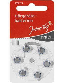 Jeden Tag Hörgerätbatterien Typ 13