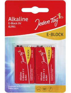 Jeden Tag Alkaline 9V E-Block 6LR61